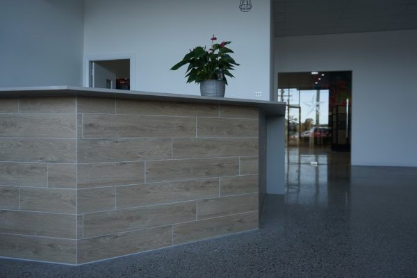 burwood timber tile in large size showroom